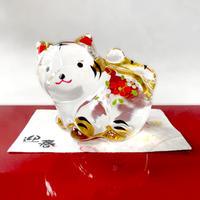 Gold paint Tiger-Japanese Zodiac(large) / Glass decoration