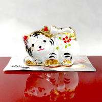 Gold paint Tiger-Japanese Zodiac(middle) / Glass decoration