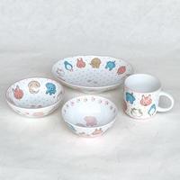 Kids Tableware Set(Animal face) / Mino ware