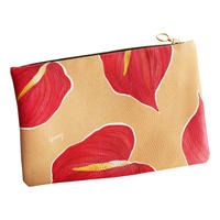 HEARTY<3 Leather Clutch -LARGE-
