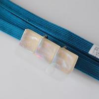砂糖菓子の三連帯留(ベージュ) ガラス製