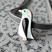 ペンギンの帯留(シェル)