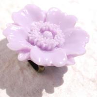 お花の帯留(薄紫)