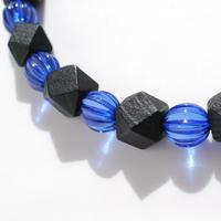 青と黒の男性用羽織紐(35)