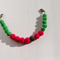 ベロア羽織紐(ベリー×緑)