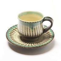 小鹿田焼 コーヒーカップ&ソーサー
