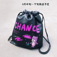 ペイントパンチングナップサック【WCJ-GE-005BK】
