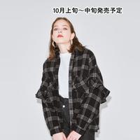 チェックフリルネルシャツ【WCJ-GN-007BK】