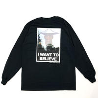 FLYING SOY SAUCER*I want to believe Long Sleeve Tee*BLACK