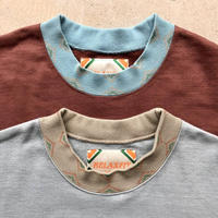RELAXFIT*RUST COLOR CREW SWEAT