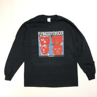 FLYING SOY SAUCER*Talking Saucer Long Sleeve Tee*BLACK