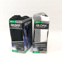 GILDAN*PLATINUM ANKLE SOCKS 6PAIR