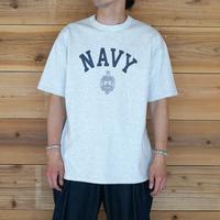 Used Champion*Re-Print T-shirt*NAVY - Ash Grey