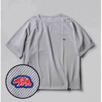 "BRING X MOUNTAINJAM  DRYCOTTONY Bias Waffle T-shirt  ""the Mountain folds"""