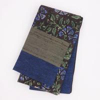 半巾帯「更紗ハギ/青花」