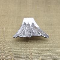 帯留「銀細工/富士山」