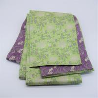 西陣織半巾帯「金魚紋×牡丹唐草」