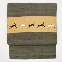 名古屋帯「猫刺繍」