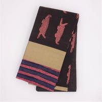 半巾帯「更紗ハギ/ワニ」