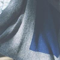 blue sheet knit