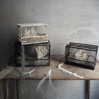 une cage  éphémère.. noir M  儚い鳥かご゙オブジェ