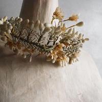 花の精の ワックスフラワーの花冠    couronne