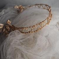 ワックスフラワーの花冠b    couronne
