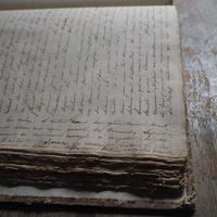 遠い記憶の手書き古書  1834年