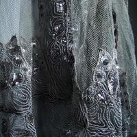 ビジュー メタルチュールレース gris
