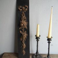 木彫りのbotanical パネル