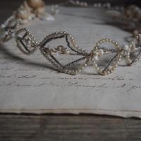 ワックスフラワーの花冠    couronne