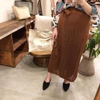 鍵編みラップ風スカート