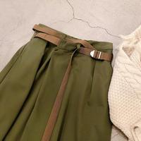 ベルトレイヤードスカート