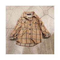 ウール 混厚手起毛チェックシャツジャケット