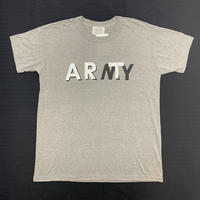 【 SNOW SHOVELING 】ART not ARMY (USED) / Remake T-shirt / gray(a)
