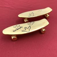 【 TALKY 】Mark Gonzales / pika pika skate board chopstick rest ( gold )