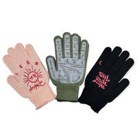 【 huihui × Aquvii 】 Hui Hand Glove / PINK , KHAKI , BLACK