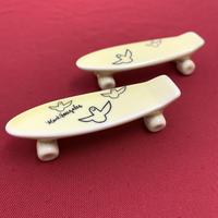 【 TALKY 】Mark Gonzales / skate board chopstick rest ( yellow )