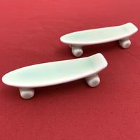 【 TALKY 】skateboard chopstick rest ( green )
