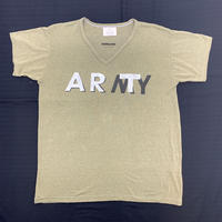 【 SNOW SHOVELING 】ART not ARMY (USED) / Remake T-shirt / khaki(a)