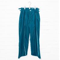 【Aquvii Wardrobe】VELVET ASKEW SLACKS / ROYAL BLUE