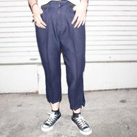 【TAG DOES NOT MAKE YOU】Slacks PANTS / Navy①