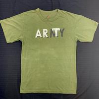 【 SNOW SHOVELING 】ART not ARMY (USED) / Remake T-shirt / khaki(b)
