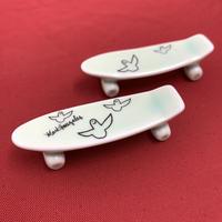 【 TALKY 】Mark Gonzales / skate board chopstick rest ( green )