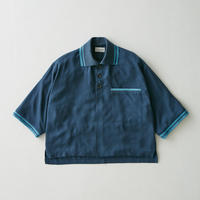 Tencel oversize poloshirt(Blue)