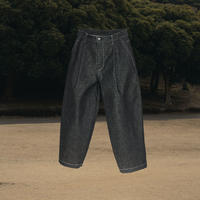 【1.27[wed]20:00‐PRE‐ORDER】DENIM WIDE TAPERED TROUSERS   (BLACK RIGID)