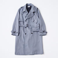 Wool 3way holster chest bag trench coat  ( Blue Gun club check )