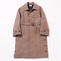 Side slit balmacaan coat(Gun club check)