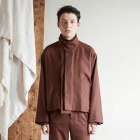 2way collar drizzler jacket(Brown)