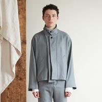 2way collar drizzler jacket(Blue gun club check)